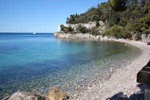 Playa cerca del castillo de Miramare