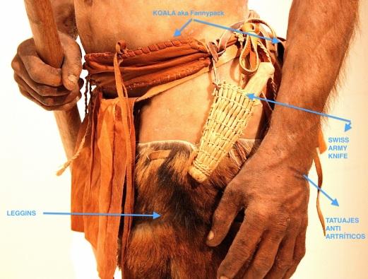 Parte del equipo de Ötzi